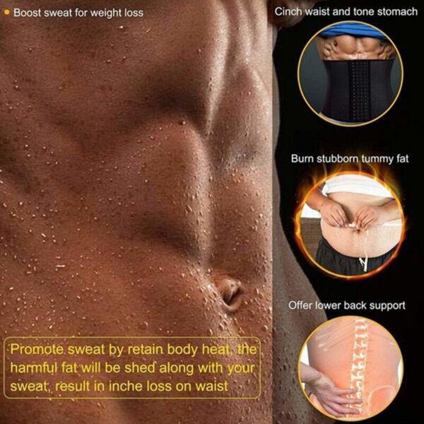 Herren Bauchweggürtel Body Shaper Abnehmen Taillenmieder Taillentrainer Korsett