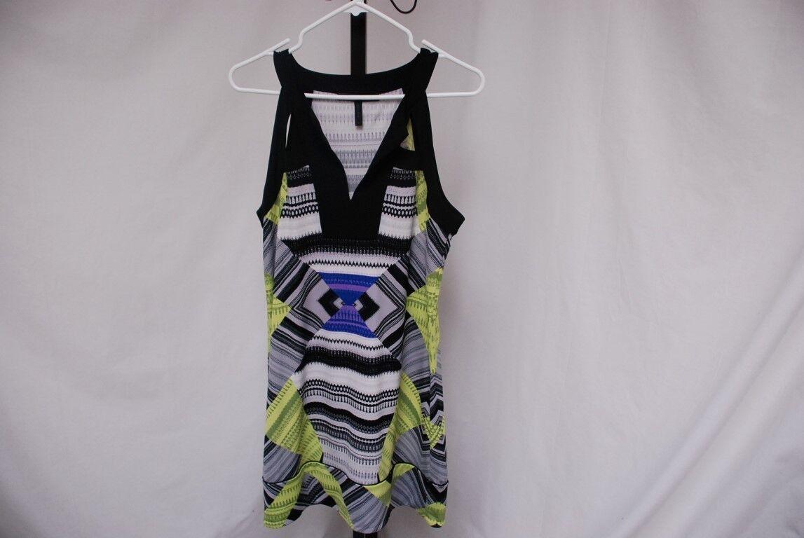 Perfect BCBG  AIDA  sleeveless geometric dress sz M sz 8 - 10