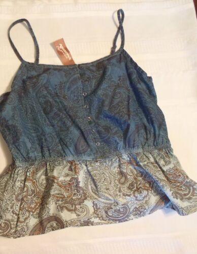 Arizona M L XL or 1X Junior Camo Paisley Sleeveless Shirt Choice NWT Top