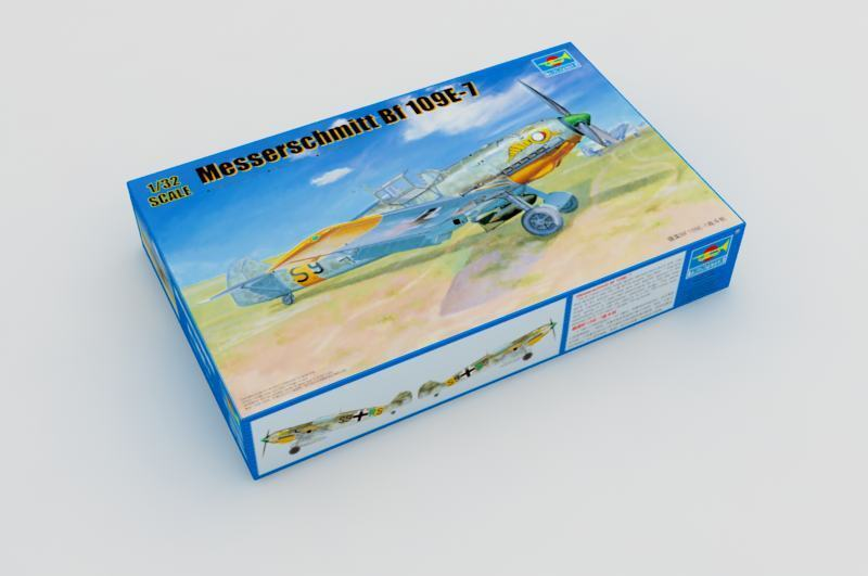 Trumpeter - Messerschmitt Bf 109e-7 Incl. Etched Parts Model Kit 1 3 2 109 E7