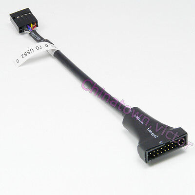 USB 2.0 9Pin 9P Female to Motherboard USB 3.0 20pin Male Cable Adaptor 10cm