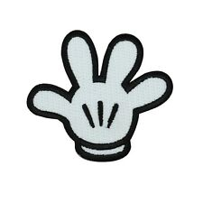 Mickey Mouse Glove Hand Applique Disney Sewing Project Accessory Iron-On Patch
