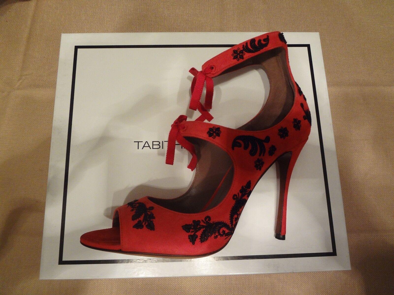 Tabitha Simmons Sabina Fushia Suede high high high heel shoes 41 b8a125