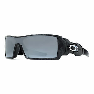 oakley oil rig black ghost text