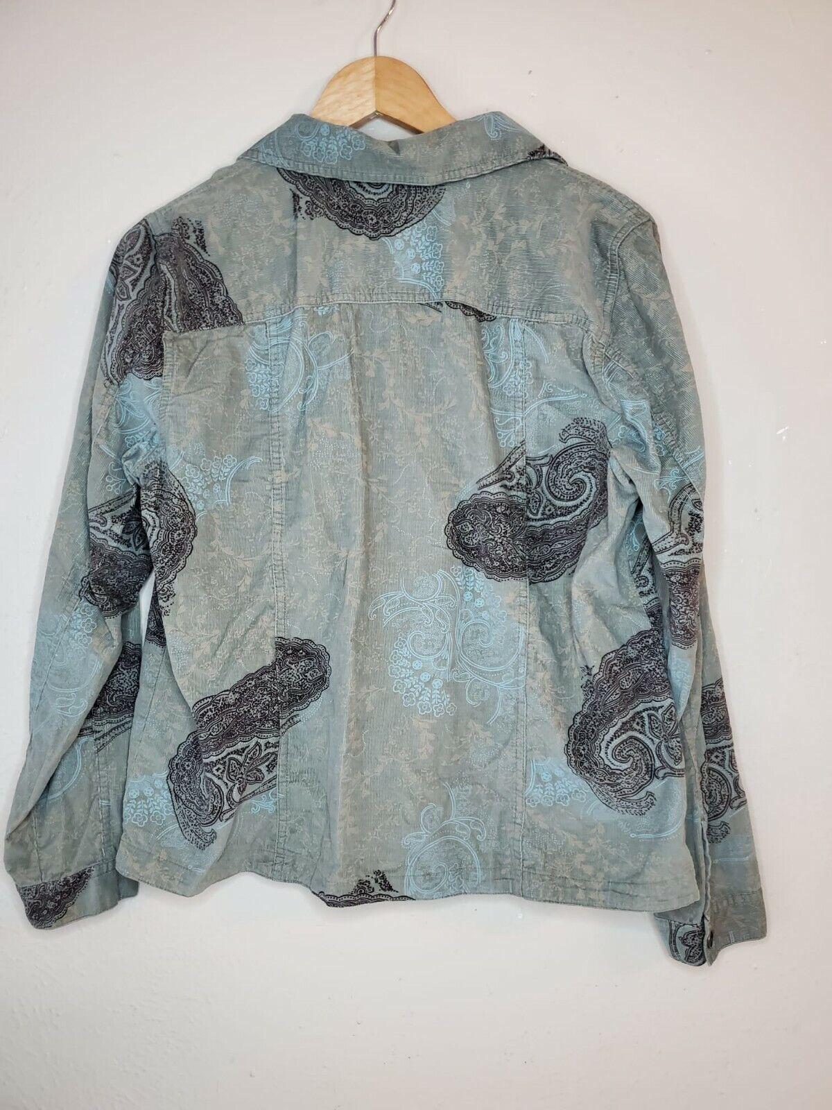 Christopher And Banks Corduroy Jacket Paisleys To… - image 6