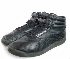 Womens Vintage REEBOK Classic High-tops Black Old School Sneakers Shoes 7.5 M SE