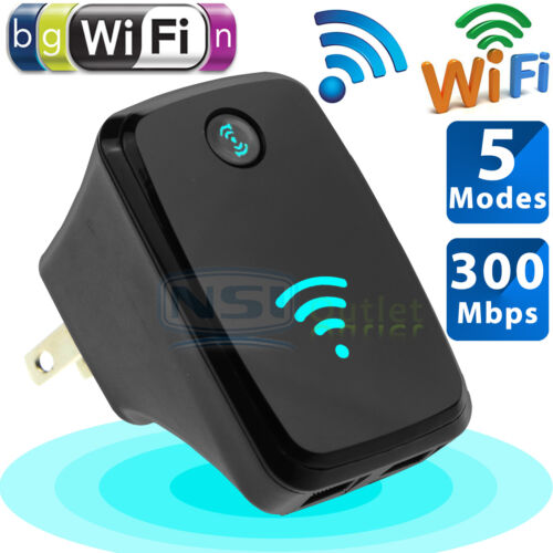 300Mbps Wireless-N Repeater AP Network Router WiFi Signal Range Extender Booster