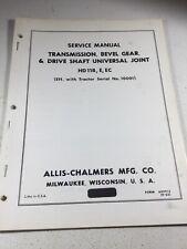 Allis Chalmers Hd11b Hd11e Hd11ec Crawler Dozer Transmission Service Manual