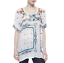 JOHNNY-WAS-Embroidered-DANNY-Short-Sleeve-Tunic-BLOUSE-Floral-S-268-NWT thumbnail 3
