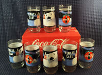 Coca Cola Glasses 8 Set In Box Collectible Glasses In Original Box