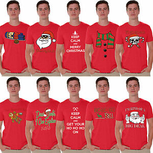 55cc2ffe MEN'S 2017 Funny Merry Christmas T-shirt Party XMAS Gift Ugly Shirts ...