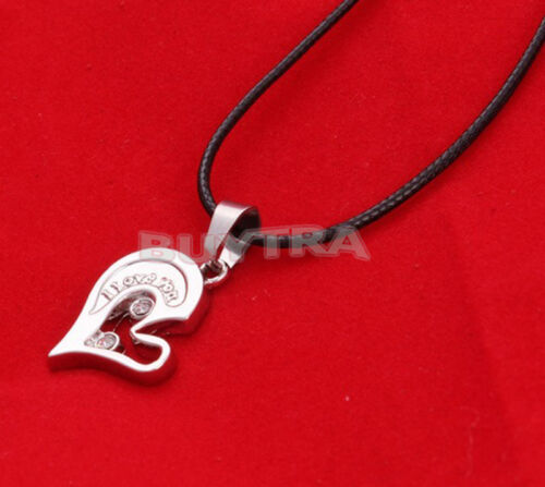"""His and Her Stainless Steel/""""I Love You/""""Heart Men Women Couple Pendant  LS"""