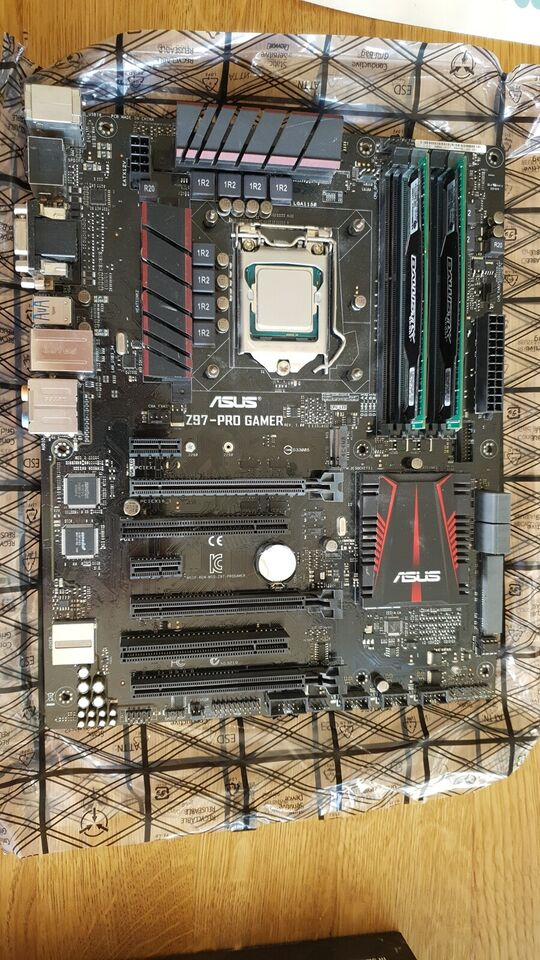 CPU/Bundkort/Ram, Intel/Asus/Crucial, 4790K/Z97-Pro