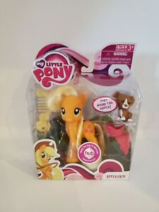 "Rare My Little Pony ""Applejack with Friend & Saddle! By Hasbro 2010 Mint!"