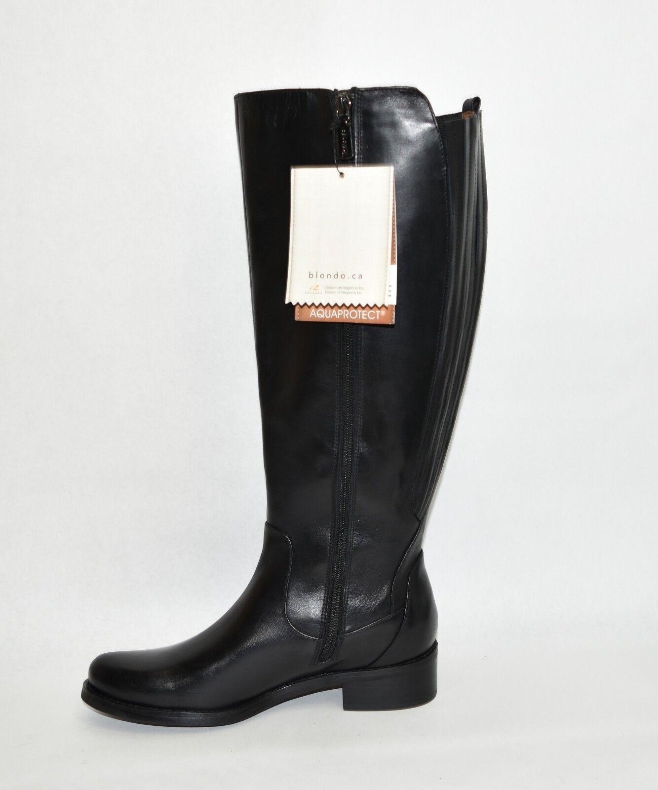 New  Blondo 'Venise' Waterproof Riding Boot Black Leather    B4758 Size 6.5 0eb1c2