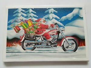10 HARLEY DAVIDSON CHRISTMAS CARDS #X484 HAVE A VERY HARLEY HOLIDAY