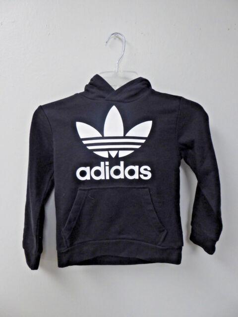bf2e109a54a5 adidas Originals Big Kids Originals Trefoil Hoodie Black white XS