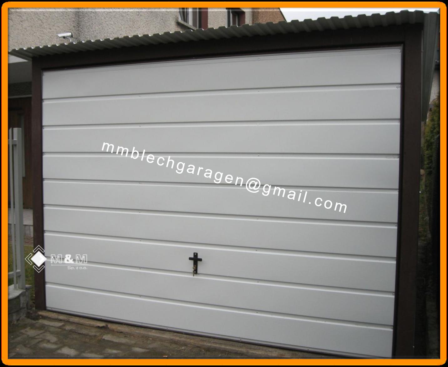 Blechgarage 3x5 RAL9010 KFZ Lager Garage Lager Schuppe Horizontalpanel 1S