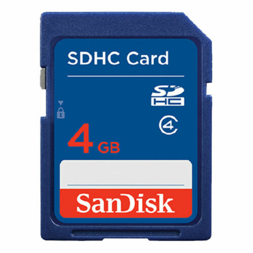 Sandisk 4GB SD tarjeta SDXC Tarjeta de memoria SDHC Clase 4 4 GB para cámaras digitales Azul
