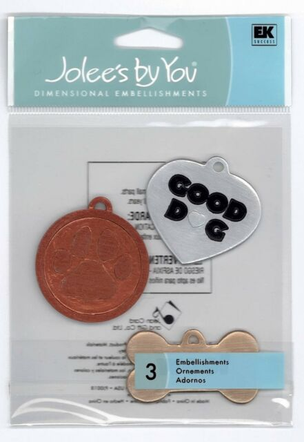 JOLEE'S BY YOU Stickers Scrapbooking DOG TAGS Pet Bone Love Heart Paw Print