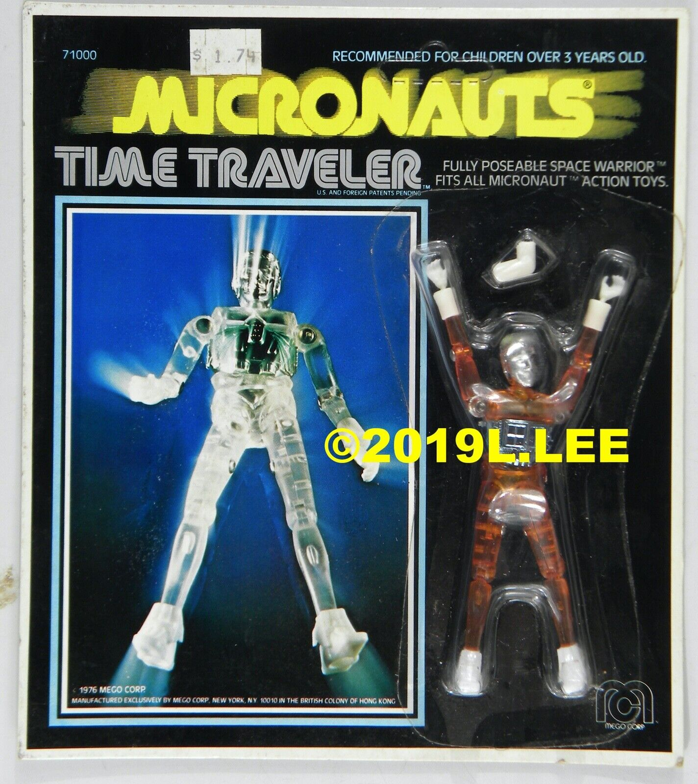 Vintage MICRONAUTS Mego Time Traveler MOC RARE Orange figure c-8+