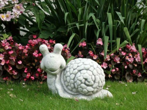 Solid Stone Figure Funny Snail Animal Cast Frost Resistant Room Decoration