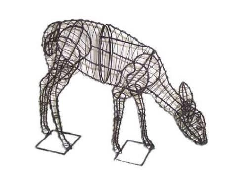 Doe Deer Fil Métallique Topiaire Cadre Petit