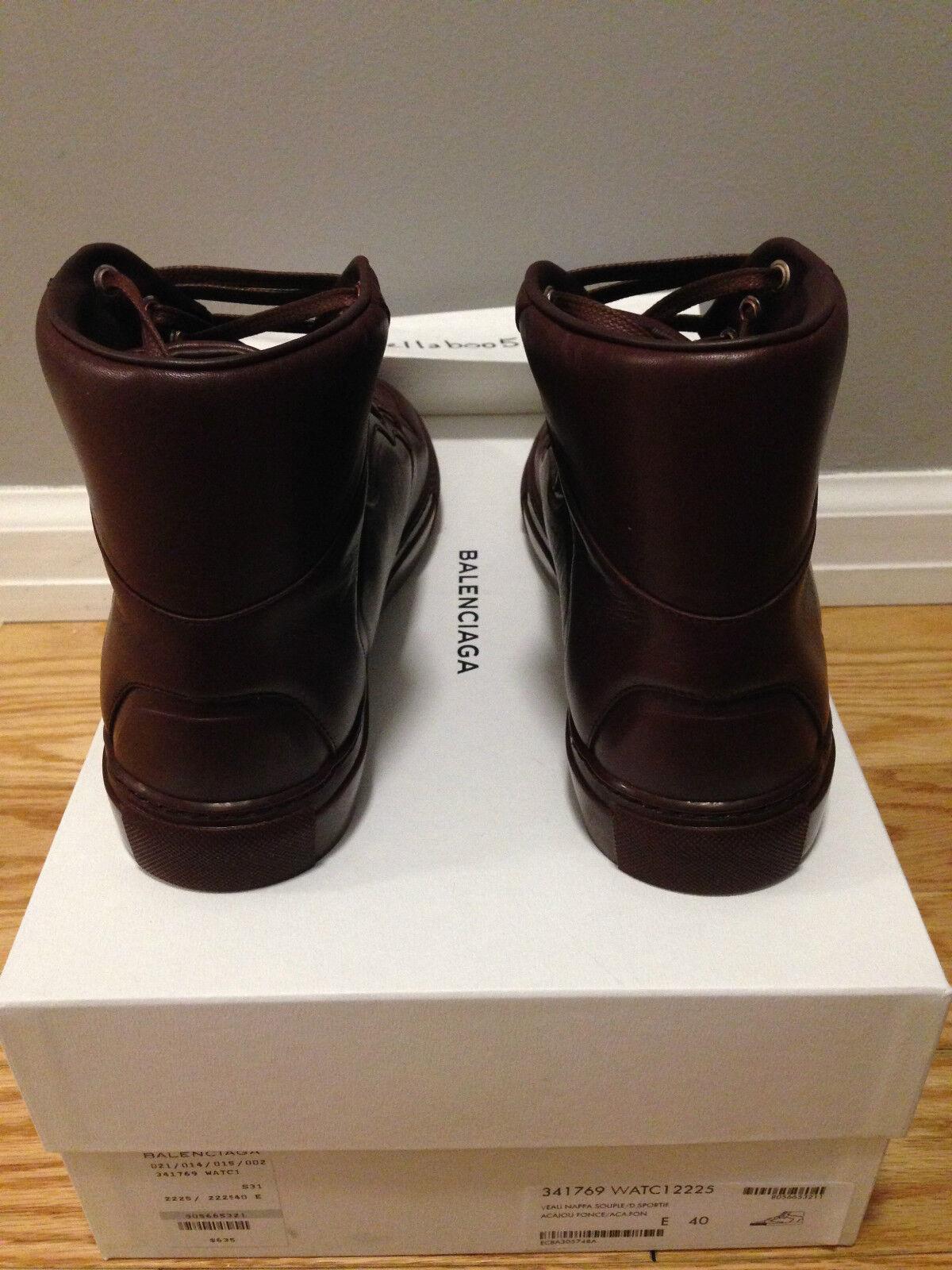 Scarpe casual Sneaker da uomo  Balenciaga Monochrome Leather Sneaker casual in Acajou Fonce 58806f