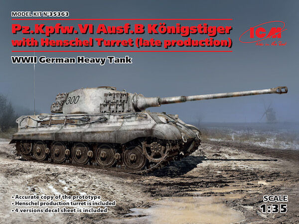 ICM 1 35 Pz.Kpfw.VI Ausf.B King Tiger with Henschel Turret
