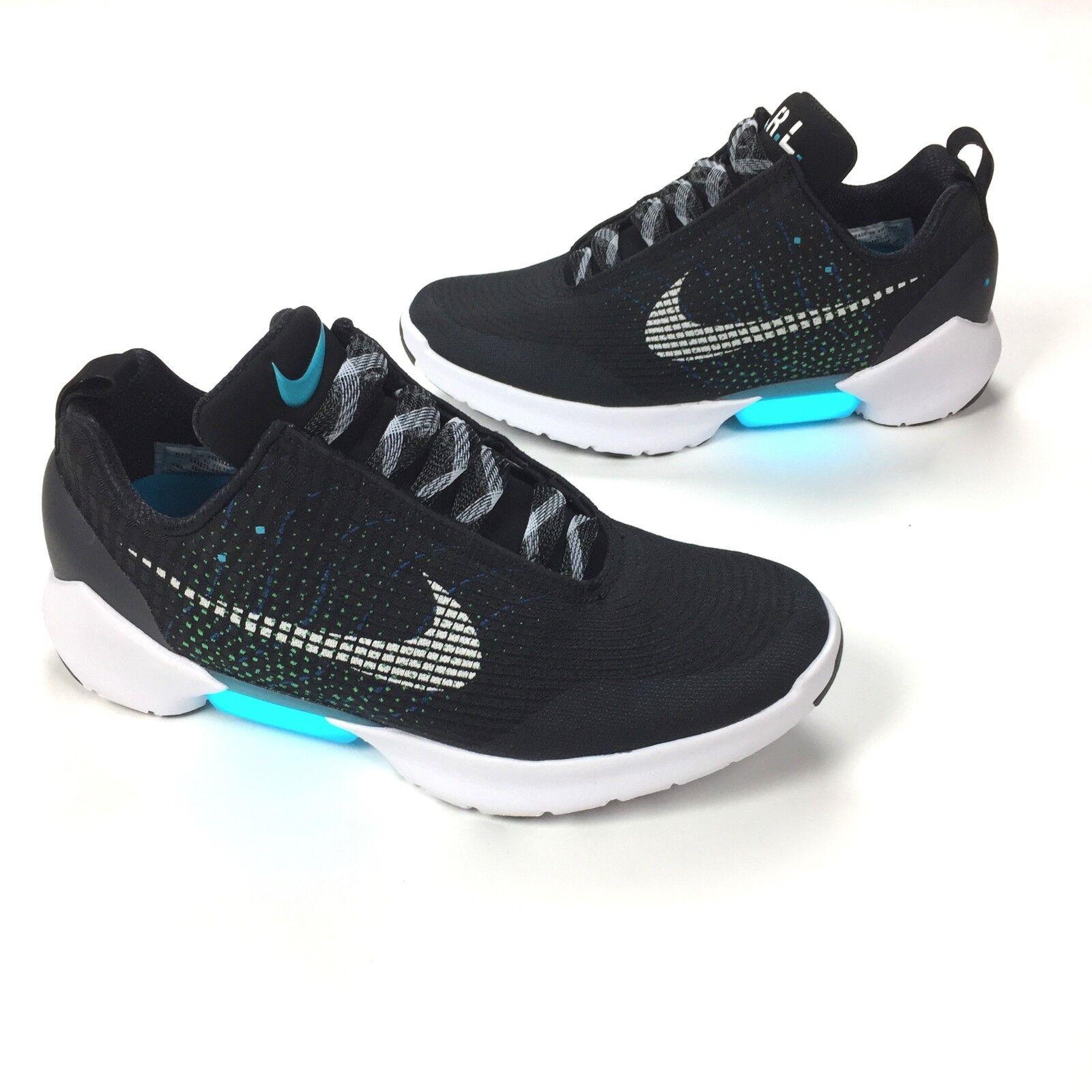 NWT Nike Hyper Adapt 1.0 EARL Self Lacing Sneakers Black Blue Lagoon AUTHENTIC