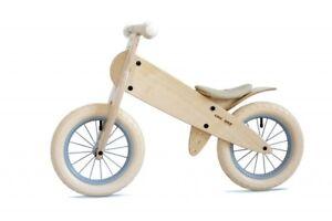 Likeabike Selle En Cuir Blanc Spoky Blanc Kokua Comme Une Roue De Vélo Bois