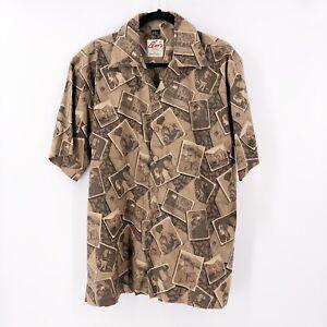 Elvis-Presley-Men-039-s-David-Carey-Camp-Shirt-Button-Down-Size-Large-NWT-Rockabilly
