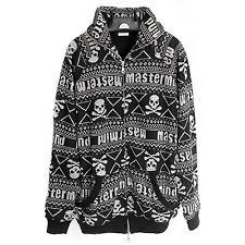MASTERMIND Japan: Fair Isle Skull Sweater Hoodie Knit Black Snowboarding Bape