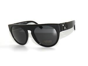 b26c4b59d2 Versace 4333 523287 Black Round Greca Sunglasses Sale 8053672711479 ...