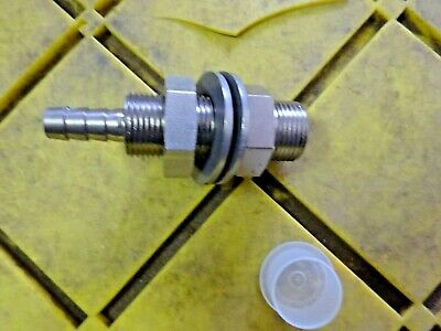 "Bulkhead HYDRAULIC STEERING Fitting 1//4/'/' NPT X 2 1//2/"" L Male EA LATHAM"