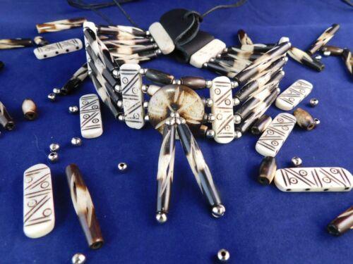 Jewelry Buffalo Bone Style # 9 Native American Bone Choker Necklace Necklace