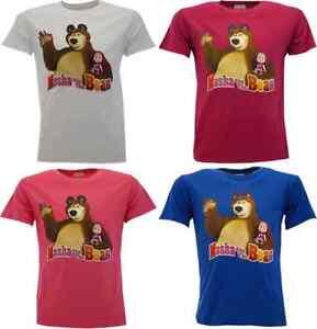 T-shirt-maglia-bambino-a-MASHA-E-ORSO-originale-etichetta-034-orso-saluta-034