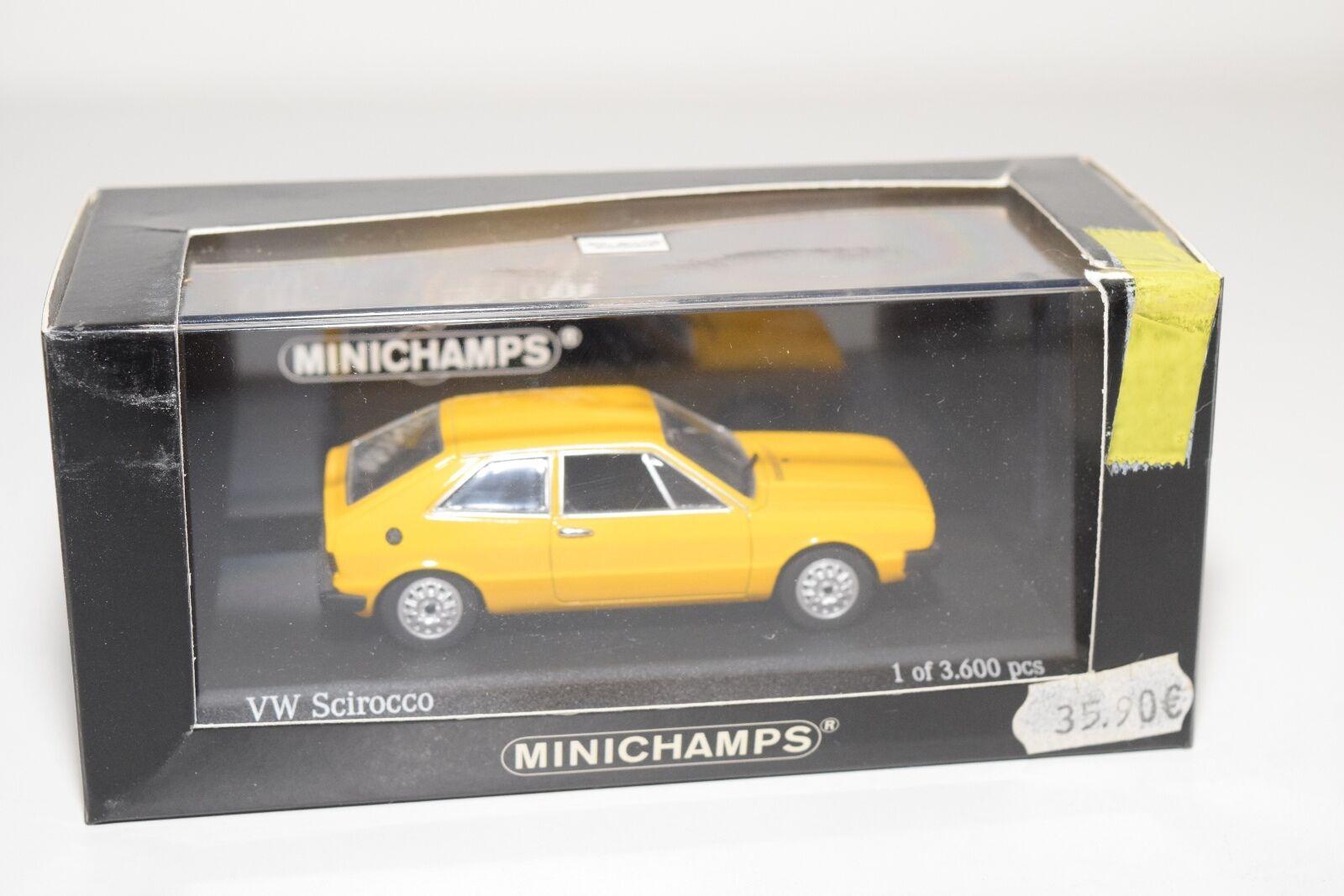 vendite dirette della fabbrica . MINICHAMPS VW VOLKSWAGEN SCIROCCO 1974 1974 1974 gituttio MINT scatolaED  disponibile