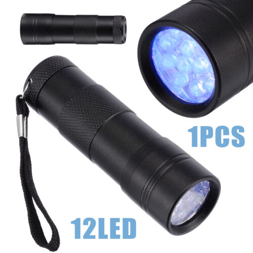 UV Torch 12 LED Ultraviolet Flashlight Blacklight 395nm Purple Light Resin Tool·