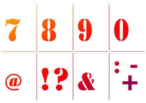 Universal-Schablonen-Set A4 Alphabet /& Zahlen 5-tlg Viva Decor
