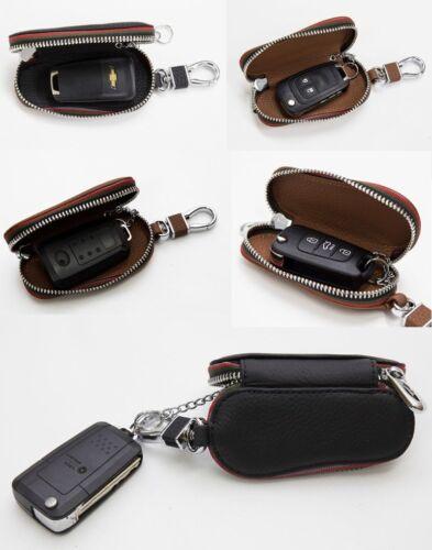 Natural Leather Black Smart Folding Key Case Holder For Hyundai i40