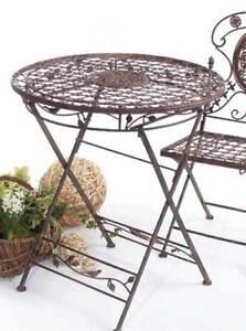 Gartentisch Avis Rund 70 Cm Metalltisch Klappbar Tisch Ebay