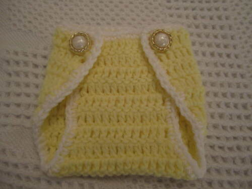 One Crocheted diaper cover=choose three sizes=Great for photo props
