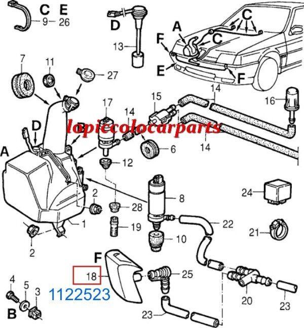 1122523 Spruzzatore Tergifaro SX Alfa 1992 164 dal 1987 al 1992 Alfa Originale Scatolato f041df