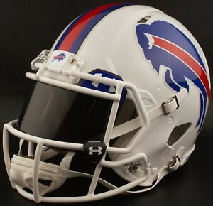 b49e780d Details about ***CUSTOM*** BUFFALO BILLS Full Size NFL Riddell SPEED  Football Helmet