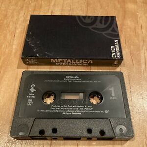 Metallica - Enter Sandman CASSETTE TAPE 1st US issue slayer megadeth anthrax