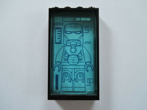 hellblau Mark VII 76007 Lego 1 x Rahmen 60596 schwarz 1x4x6 Glas 57895pb020 tr