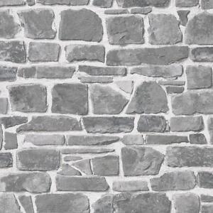 Carta Da Parati Su Muro Ruvido.Dettagli Su Rasch Mattone Muro Di Pietra Effetto Grigio Lusso Carta Da Parati Ruvida