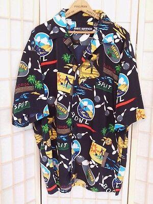 Men's Bowling Shirt XL BOX OFFICE ISLAND Hawaiian Bowling Sports Shirt