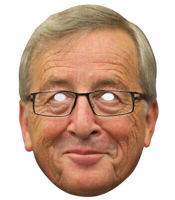 Laborioso Jean-claude Juncker Singola Scheda 2d Festa Maschera-uomo Politico Europeo Brexit-mostra Il Titolo Originale Elegante Nello Stile
